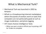 what is mechanical turk