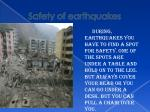 safety of earthquakes