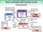 rain an image and execute a task baremetal