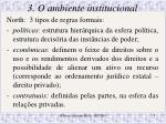 3 o ambiente institucional