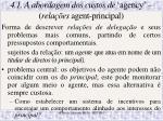 4 1 a abordagem dos custos de agency rela es agent principal