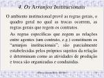 4 os arranjos institucionais