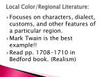 local color regional literature