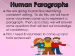 human paragraphs