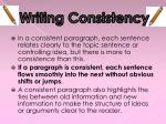 writing consistency