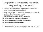 7 th graders stay seated stay quiet stay working raise hands1