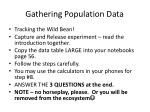 gathering population data