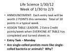 life science 1 30 12 week of 1 30 to 2 3
