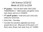 life science 2 23 12 week of 2 21 to 2 24
