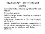 play jeopardy ecosystems and ecology