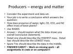 producers energy and matter