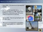 history of the mip development and test flights