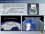 mip configurations backup navigation system