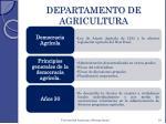 departamento de agricultura