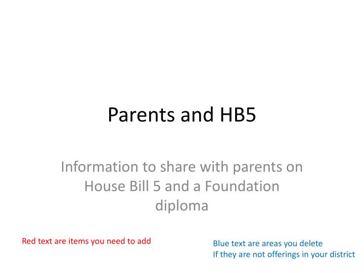 parents and hb5 n.