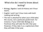 what else do i need to know about testing