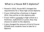 what is a house bill 5 diploma