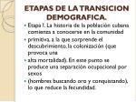 etapas de la transicion demografica