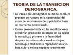 teoria de la transicion demografica