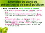 exemples de plans de pr vention et de sant publique