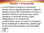 origen y evoluci n
