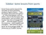 sidebar some lessons from sports