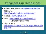 programming resources