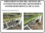implementaci n del sistema de automatizaci n del quemador y generador frontal de llama