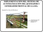 implementaci n del sistema de automatizaci n del quemador y generador frontal de llama1