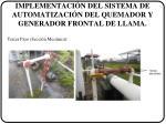 implementaci n del sistema de automatizaci n del quemador y generador frontal de llama2