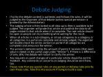 debate judging