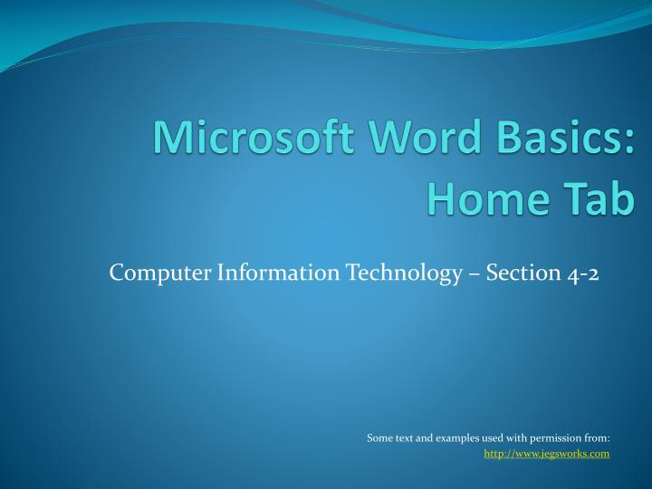 microsoft word basics home tab n.