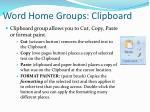 word home groups clipboard