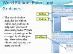 word ribbon rulers and gridlines