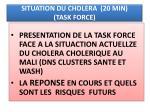 situation du cholera 20 min task force
