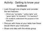 activity getting to know your textbook