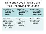 different types of writing and their underlying structures