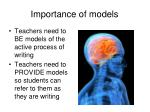 importance of models
