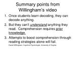 summary points from willingham s video