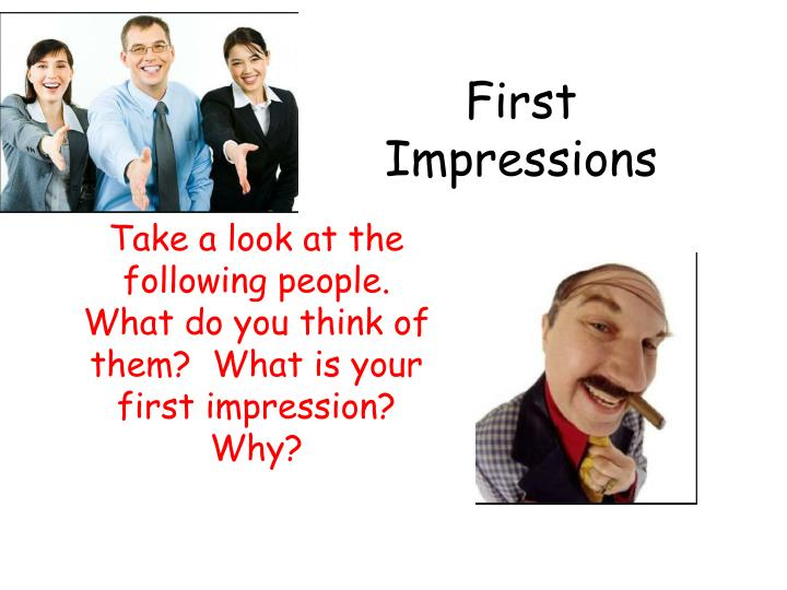 what is first impression