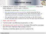 simulation setup