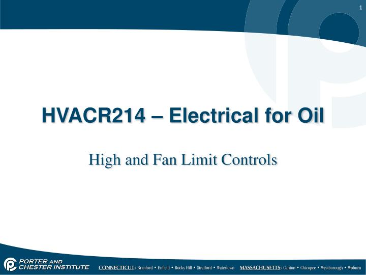 hvacr214 electrical for oil n.