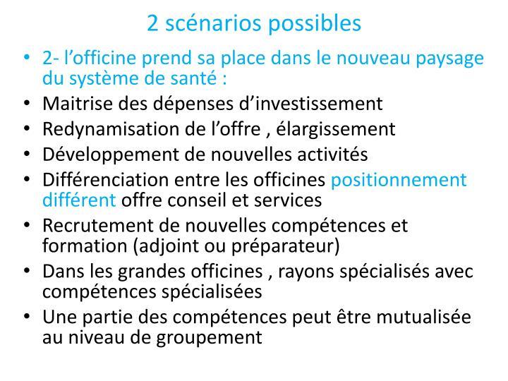 2 scénarios possibles