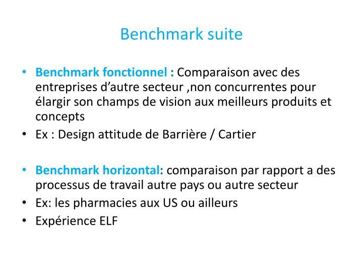 Benchmark suite