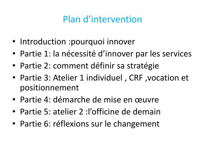 Plan d intervention