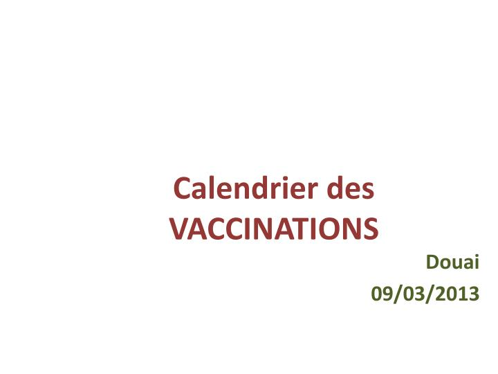 calendrier des vaccinations n.