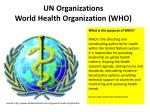 un organizations world health organization who
