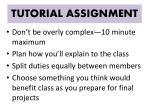 tutorial assignment1