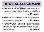 tutorial assignment2