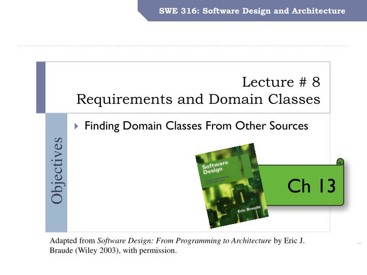 swe 316 software design and architecture n.